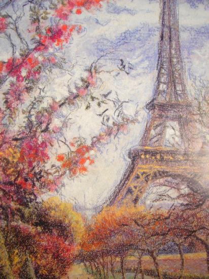 ode to paris eiffel tower autumn
