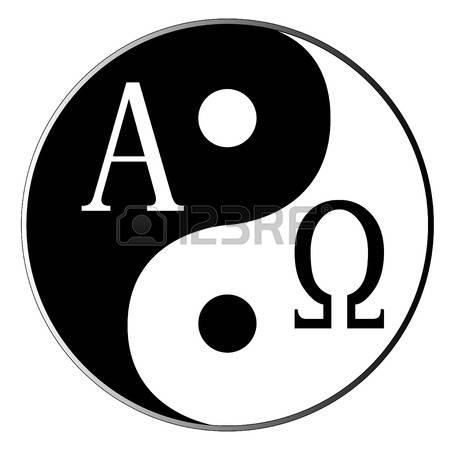 33285732-陰と陽とアルファオメガ白で組み合わせる (1)